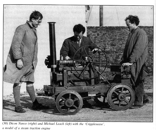 The grown-up Dicon (right) looking at this childhood creation with Michael Leach (left). (http://www.artcornwall.org/features/nance_belgraveweb214.jpg)