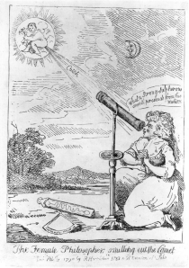 """The Female Philosopher smelling out the Comet""."