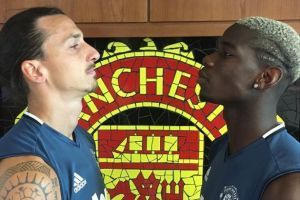 Zlatan and Pogba face off