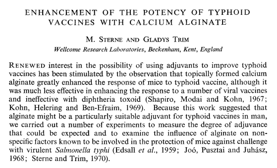 M. Sterne, Gladys Trim November 1970, Journal of Medical Microbiology 3: 649-654