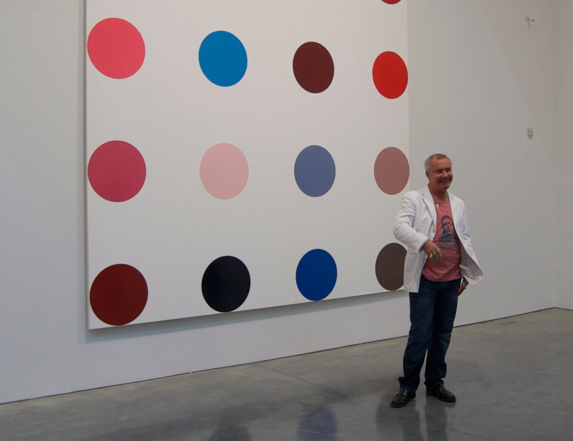 Damien Hirst at the exhibition