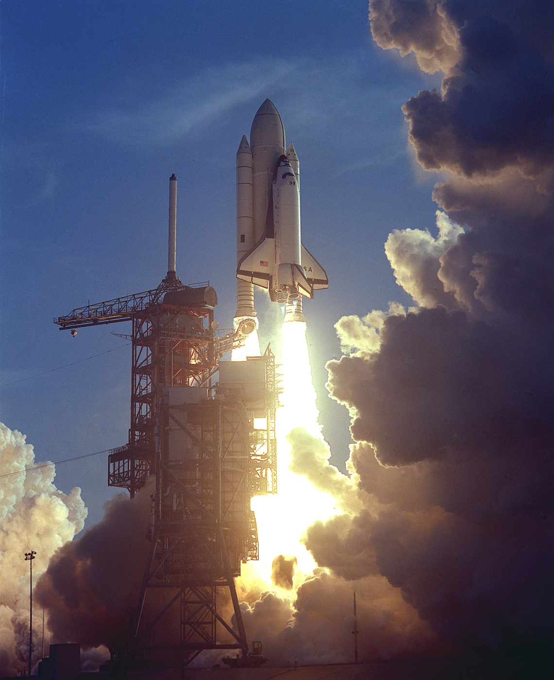 In 1981, Columbia was the first Space Shuttle to go into orbit. It returned to Earth after 54.5 hours having orbited the Earth 36 times. (Photo credit: NASA)